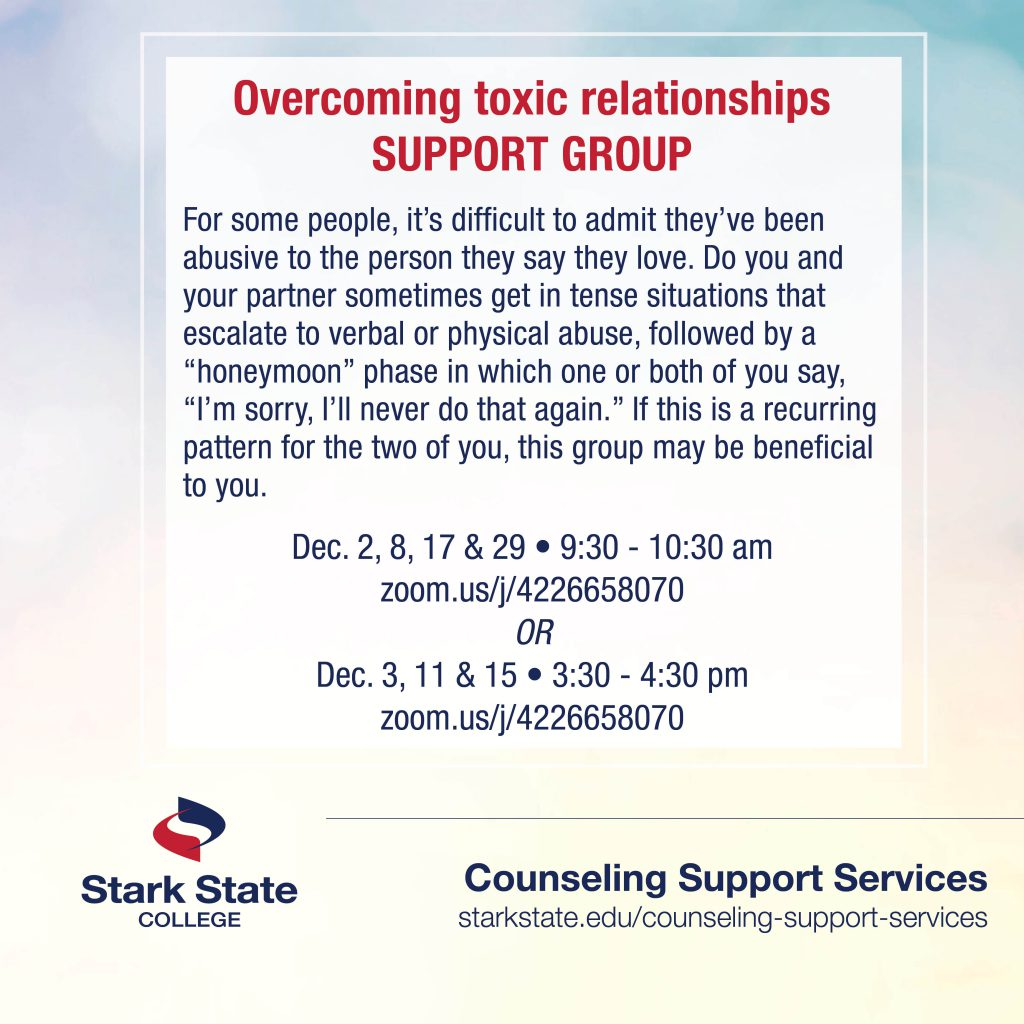 Overcoming Toxic Relationships support group