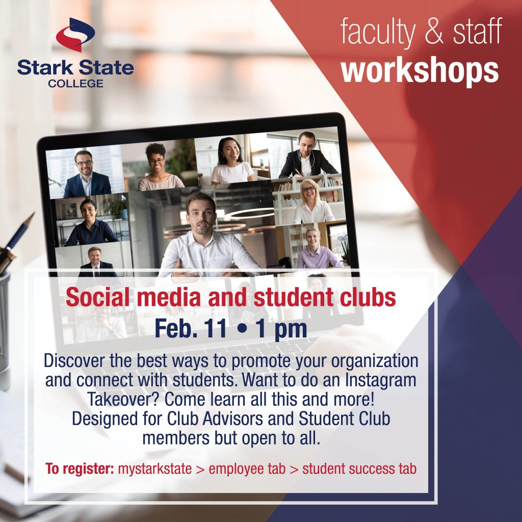 Virtual faculty/staff workshop | Social media and student clubs