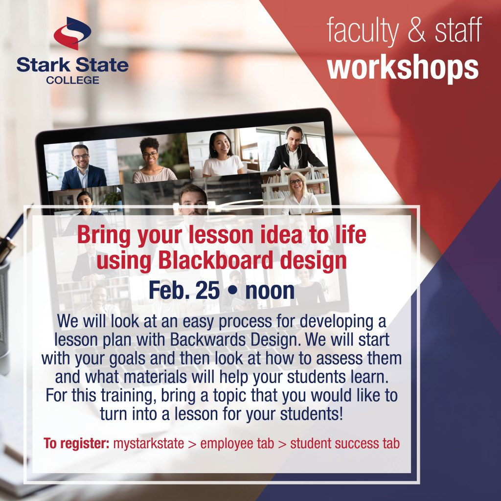 Virtual faculty/staff workshop | Bring your lesson idea to life using Blackboard design