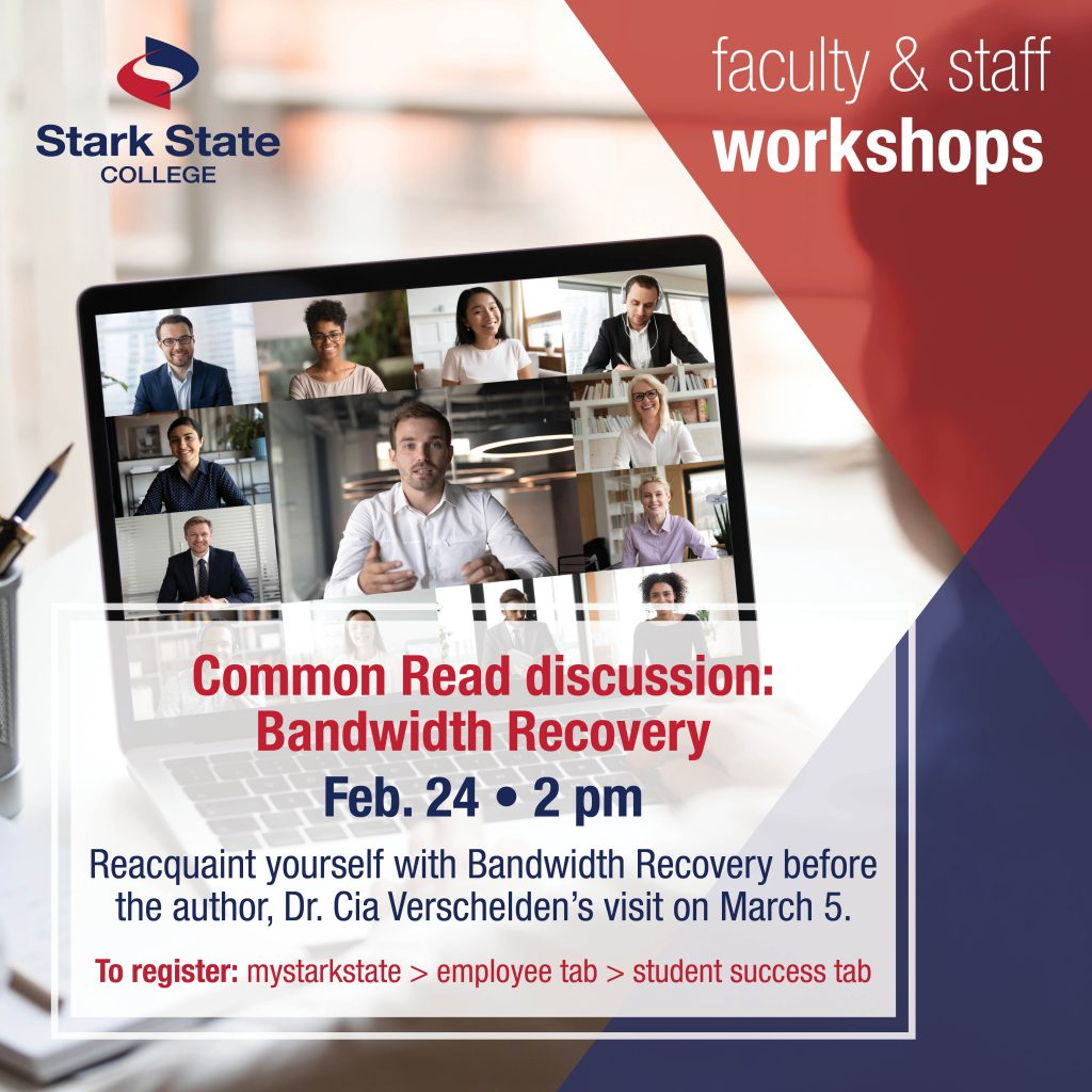 Virtual faculty/staff workshop | Common Read discussion: Bandwidth Recovery