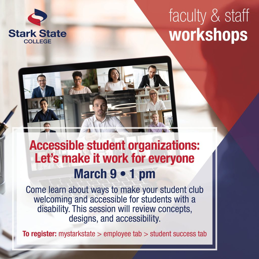 Virtual faculty/staff workshop | Accessible student organizations: Let's make it work for everyone