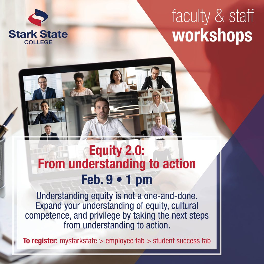 Virtual faculty/staff workshop | Equity 2.0: From understanding to action