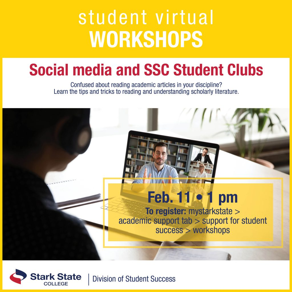 Virtual student workshops | Social media and student clubs