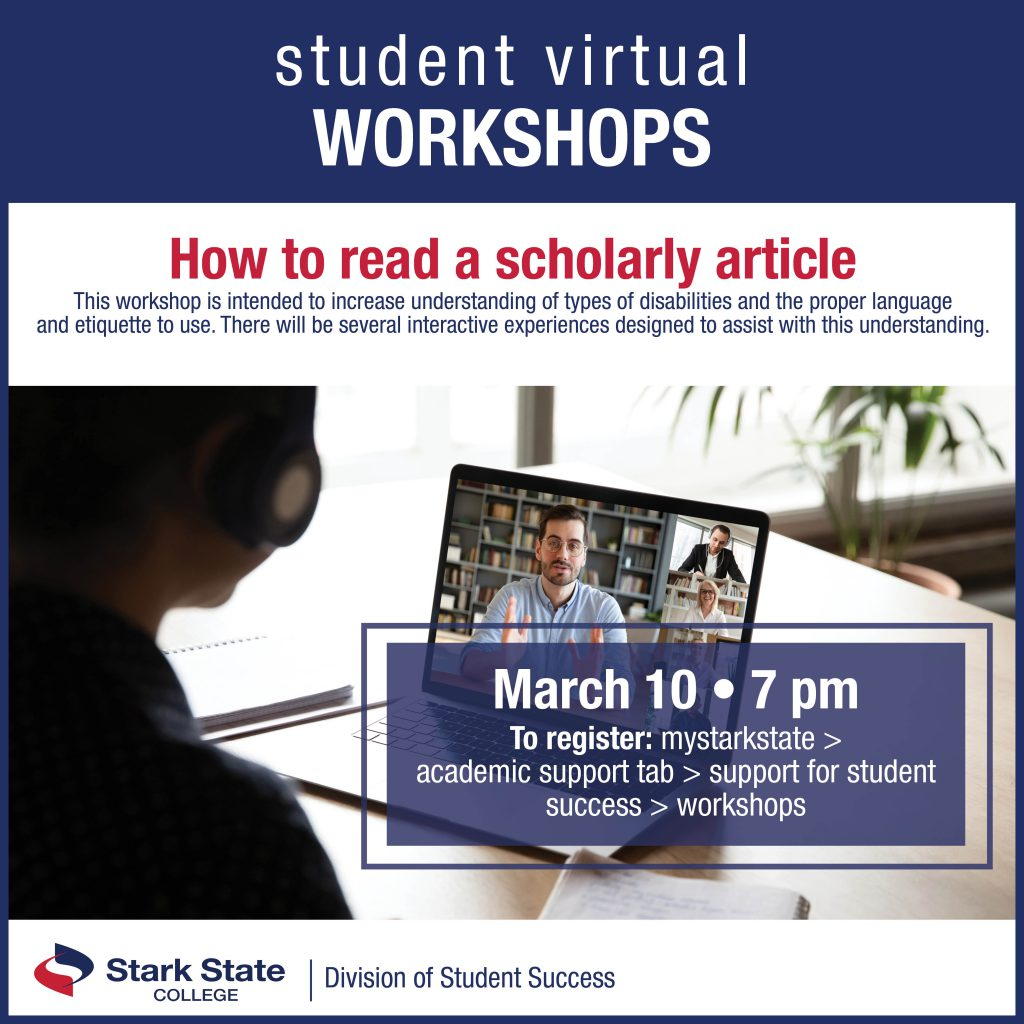 Virtual student workshops | How to read a scholarly article