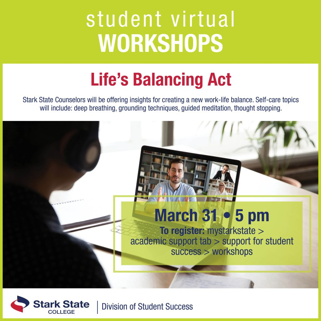 Virtual student workshops | Life's balancing act