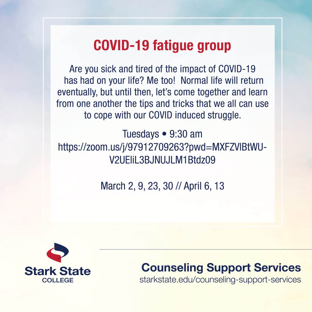 COVID-19 fatigue support group | counseling services