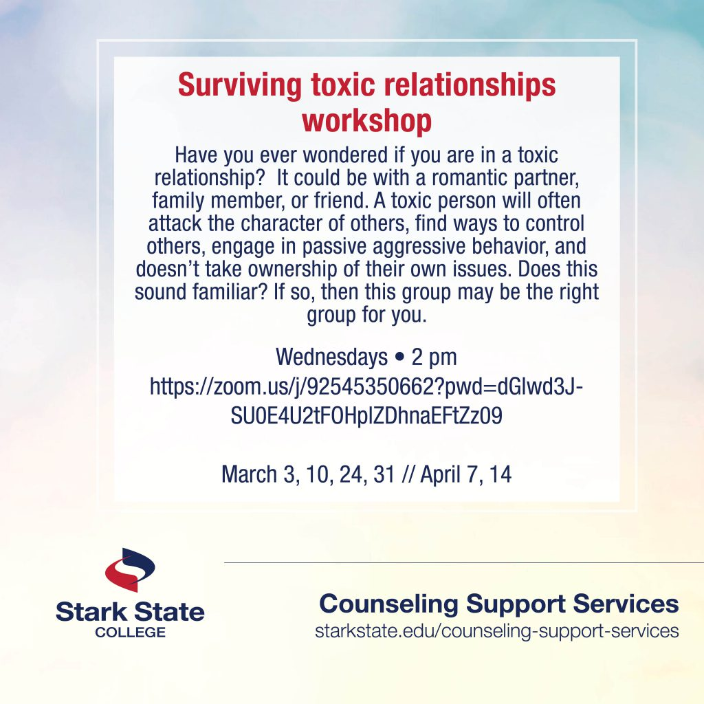 Surviving toxic relationships support group - counseling services