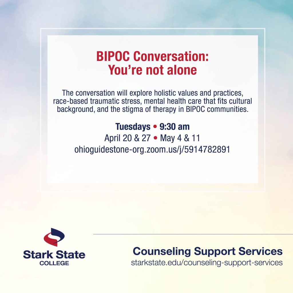 BIPOC Conversation: You're not alone | counseling services