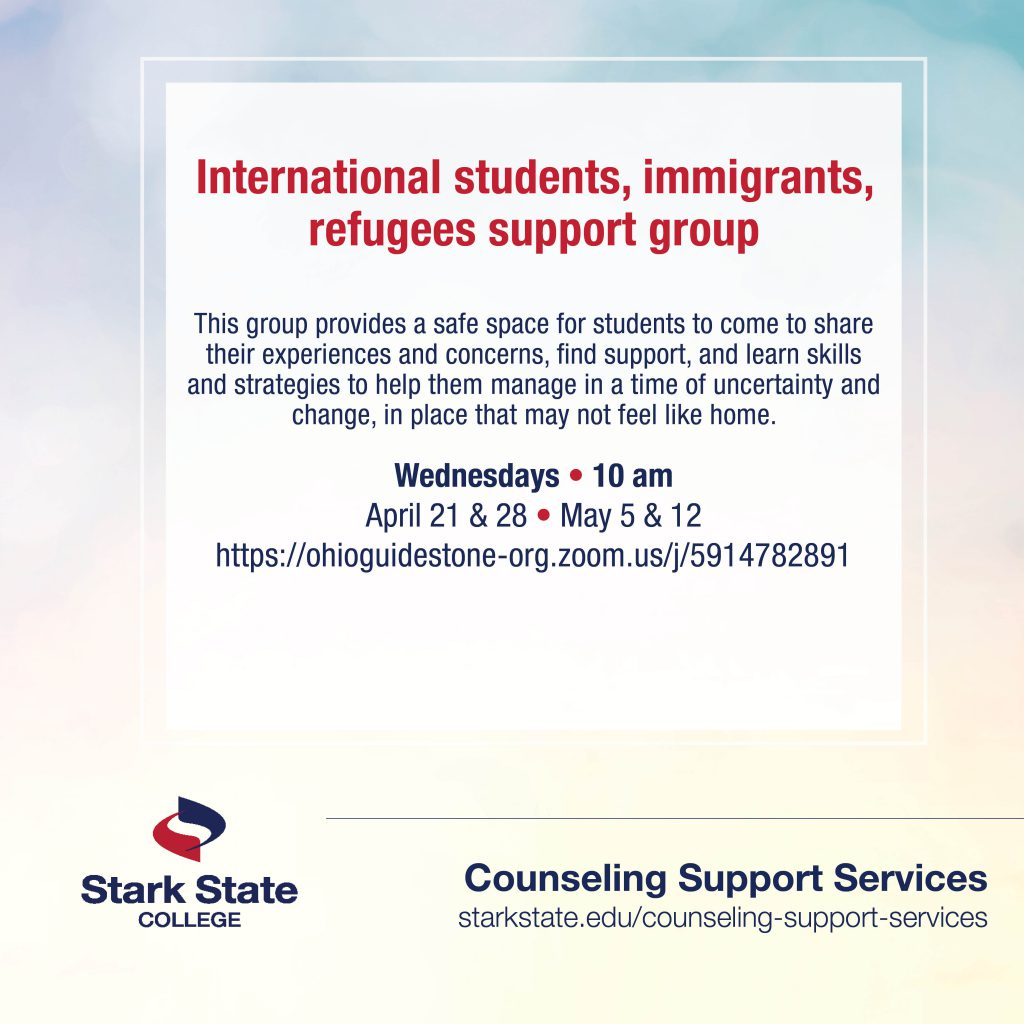 International students, immigrants and refugees support group | counseling services