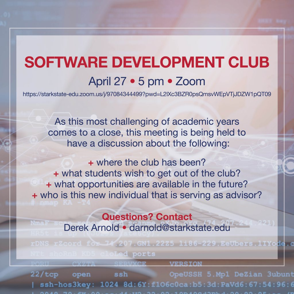 Software Development Club meeting