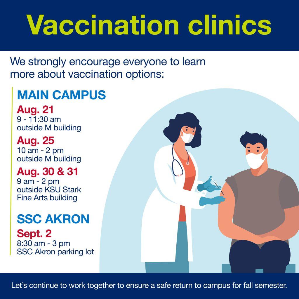 Vaccination clinic | outside KSU at Stark Fine Arts building